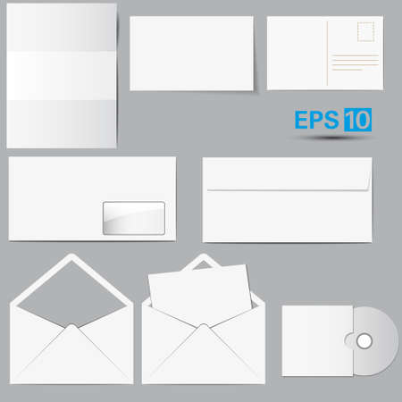 Selected Corporate Templates  Vector Illustration Stock Vector - 17210846
