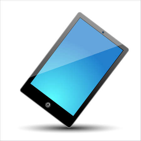 A tablet with blue screen Stock Vector - 17598727