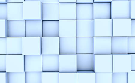 Abstract image of many blue cubes background photo
