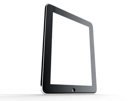 A tablet isolated on a white background Stock Photo - 17598746