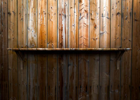3D empty wood shelf  grunge interior for your objects Stock Photo - 17990792