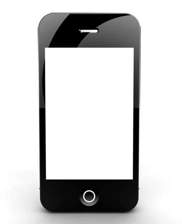 A smartphone isolated on a white background with white screen for your copyspace photo