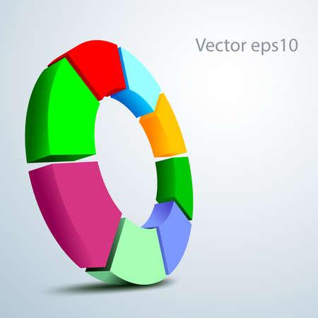 sampler: A circular 3D vector logo isolated on a grey background