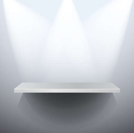 A 3D isolated vector empty shelf for exhibit