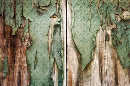 Old grunge wood panels used as background photo