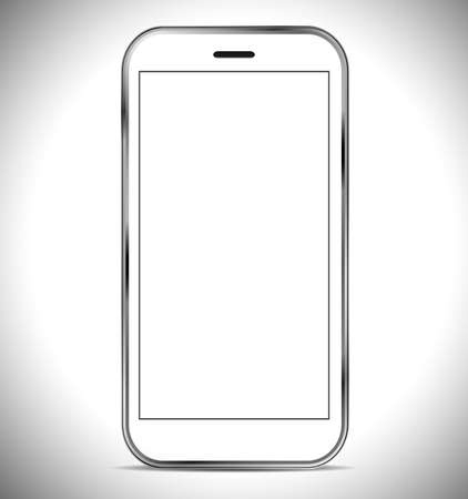 A smartphone isolated on a white background photo
