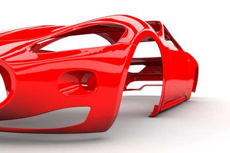 Red Back Body Auto ohne Lenkrad, Motor, Innenraum Standard-Bild - 22020802