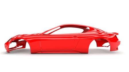 cuerpo humano: Del cuerpo de coche nuevo Red sin rueda, motor, interior