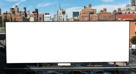 advertise with us: Big blank billboard in New York City Stock Photo