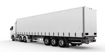 Weiß Transport-LKW auf einem weißen Hintergrund Standard-Bild - 25258928