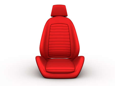 seat: Red car seat isolated on a white background