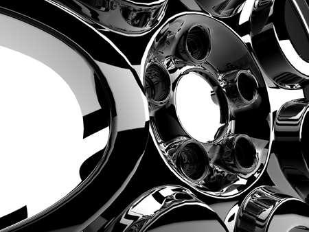 Close up or rims of a sport car