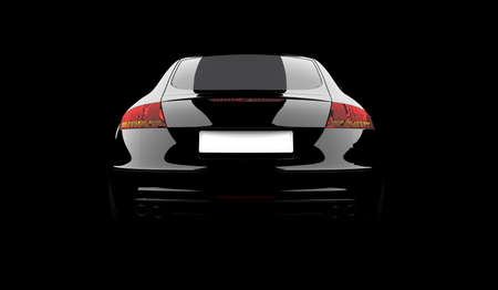 exotic car: 3D rendering of a black car on a black background