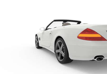 generic: 3d rendering of a brandless generic white car