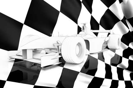 aerodynamic: 3d render of a formula one toon racing car