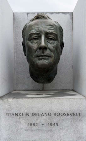 roosevelt: NEW YORK, NEW YORK - SEPTEMBER 16, 2013: The Franklin D. Roosevelt Four Freedoms Park. It is a four-acre memorial to Franklin D. Roosevelt on the southern tip of Roosevelt Island, New York.