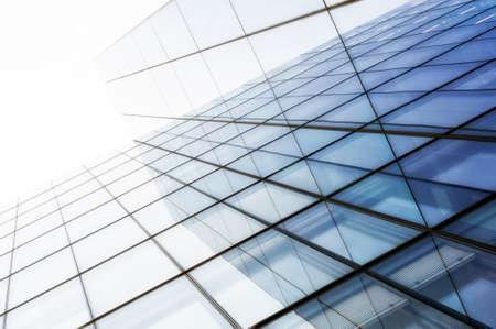 Details van een glazen wolkenkrabber in Londen