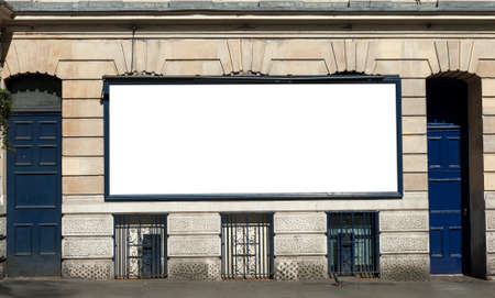 blank space: Large blank urban billboard with copy space