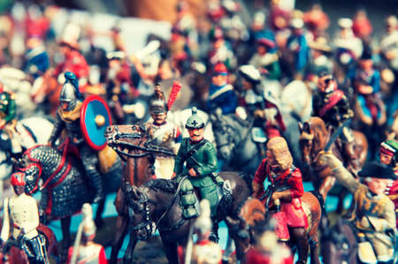 plastic soldier: Vintage toy soldiers in the street market London