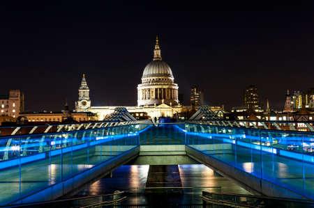 millennium: St. Paul Cathedral and Millennium Bridge in London