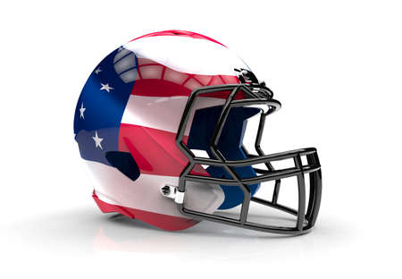 sport object: USA american football helmet isolated on a white background