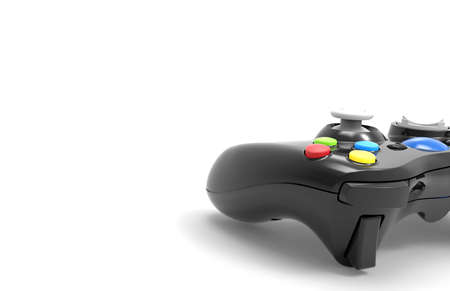 explanatory: Video game controller isolated on white background