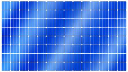 Gedetailleerde afbeelding van een blauwe silicium fotovoltaïsche elektrisch zonnepaneel textuur