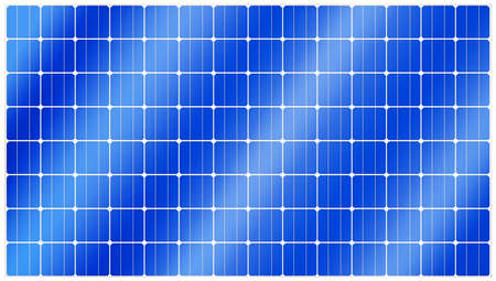 Detailed illustration of blue silicon photovoltaic electric solar panel texture Stock Photo