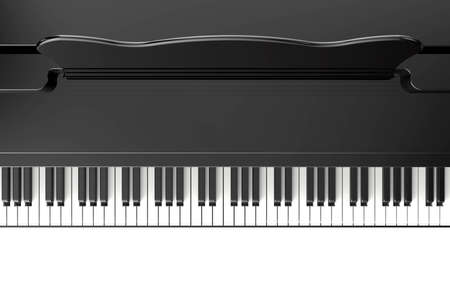 concert grand: Top of piano isolated on a white background Stock Photo