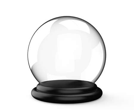 clairvoyance: Magic crystal ball isolated on a white background