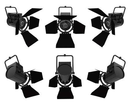 Scheinwerfer auf einem weißen Hintergrund; vorne und hinten Standard-Bild - 45163313