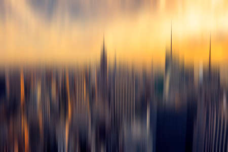 focus: Abstract background New York panorama for your design