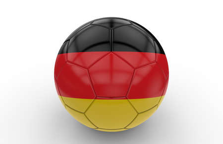 football ball: Soccer ball with german flag isolated on white background Stock Photo