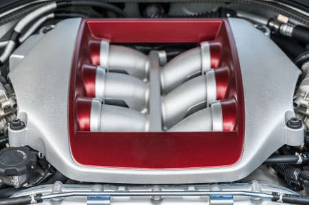 injection valve: Powerfully engine of a modern sports car