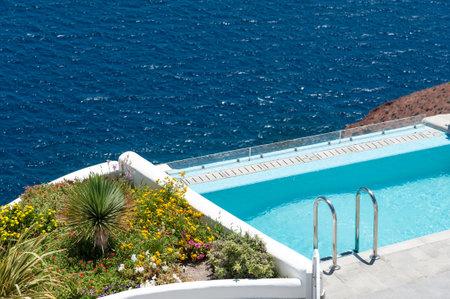 pool rooms: Beautiful pool over the sea of Santorini - Greece