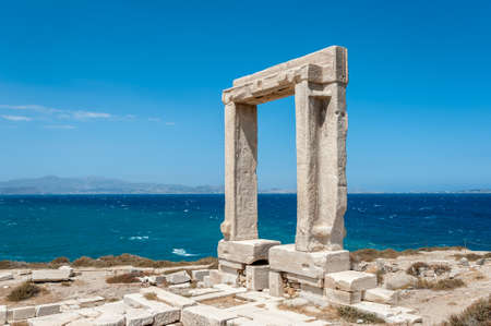 past civilization: Portara of Naxos, famous landmark of greece