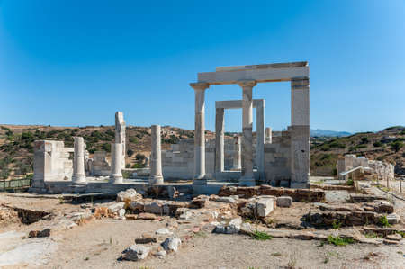 naxos: Close up of Demeter temple in Naxos