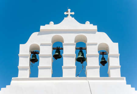 naxos: Big bells tower in the sky of Naxos - Greece