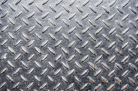 Grunge diamond metal plate for your background