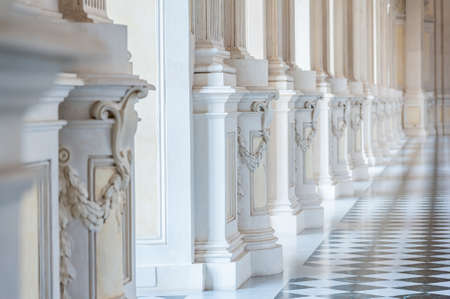 reale: Gallery in a beautiful palace with sunlight