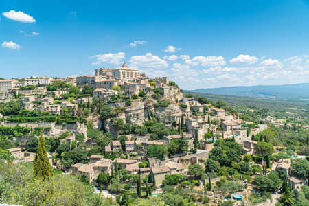 View on Gordes, a small typical town in Provence, France.