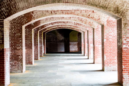 Corridors of Fort Point in San Francisco, California Banco de Imagens