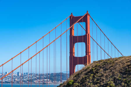 Close up of Golden Gate in San Francisco