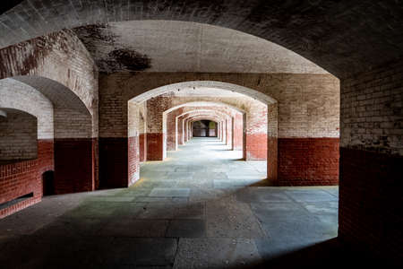 Corridors of Fort Point, San Francisco, California
