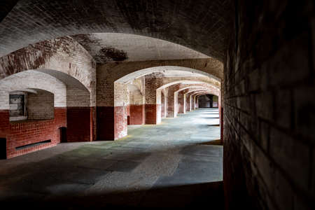 Corridors of Fort Point in San Francisco