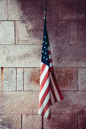 USA flag in dramatic colors Banco de Imagens