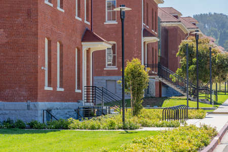 Military housing, Presidio, San Francisco, California Banco de Imagens