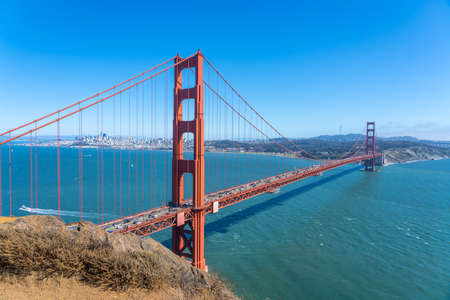 View of the famous Golden Gate Bridge, San Francisco Banco de Imagens