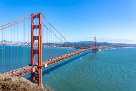 Beautiful view of the famous Golden Gate Bridge in San Francisco