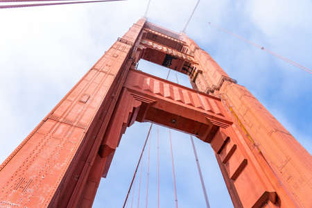 Different view of Golden Gate Bridge, San Francisco